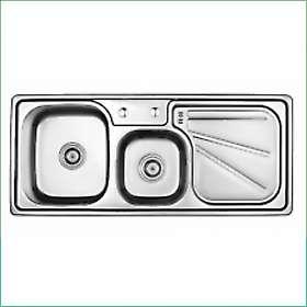 W11248  Двукоритна мивка алпака - мат