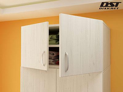 Надстройка за двукрилен гардероб - G 9 цвят бял крафт
