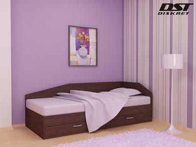 Легло Криси - 120см с чекмеджета