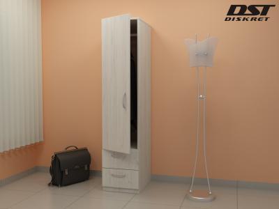 Еднокрилен гардероб - G 7 цвят дъб крафт К001