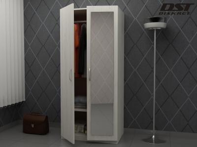 Двукрилен гардероб - G1 с огледало цвят дъб крафт К001