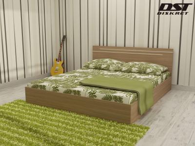 Спалня Киара цвят корпус дъб Амбер за матрак 160/200
