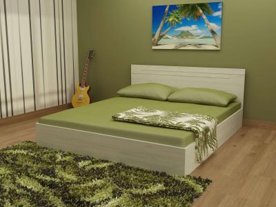 Спалня Киара цвят корпус бял дъб с включен матрак 160/200 Икономик
