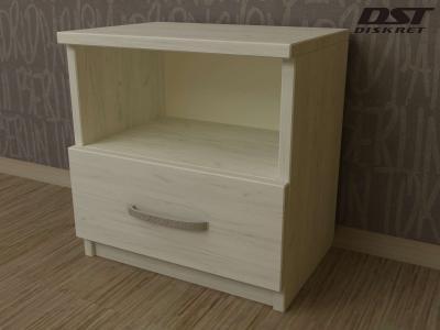 Нощно шкафче цвят корпус бял дъб