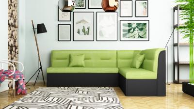 Кухненски ъгъл - черно + зелено