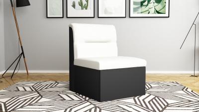 Фотьойл - черно + бяла кожа